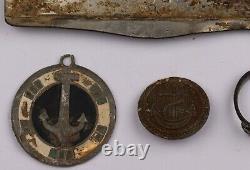 Ww2 GERMAN Set Ring U-boat KNIFE U-Boot Unterseeboot ANCHOR wwII KRIEGSMARINE