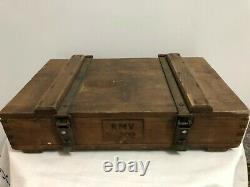 Ww2 German Ammo Crate Case Wooden Kmv Reich Luftwaffe Wehrmacht Kriegsmarine