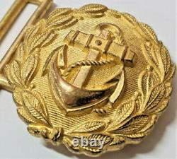 Ww2 German Kriegsmarine Navy Officer's Parade Belt Buckle 1