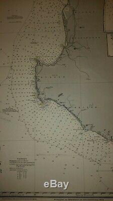 Ww2 German Kriegsmarine U Boot Seekarte Nautical charts Australia West Coast