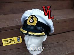 Ww2 German Kriegsmarine U-boat Captain Hat, Size60cm (nice Repro)