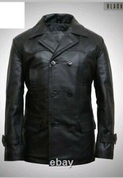 Ww2 German Kriegsmarine Uniform U Boat Deck Leather Jacket