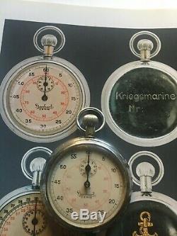 Ww2 German Navy Kriegsmarine U Boot Stopwatch Hanhart