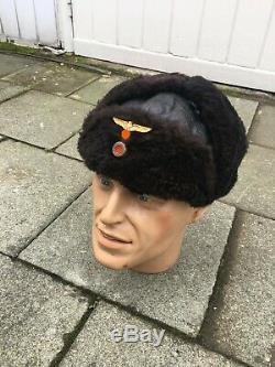Ww2 Kriegsmarine German Navy U Boot Fur Hat Pelzmütze