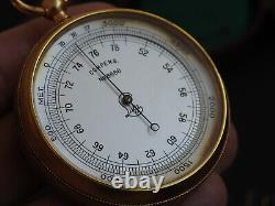 Ww2 Rare German Kriegsmarine Pocket Barometer Lufft M1882 W Case