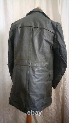 Ww2 german kriegsmarine grey leather coat jacket kreigsmarine rare