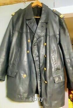 Ww2 german kriegsmarine leather officers jacket
