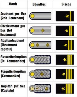 Wwii German Kriegsmarine Officers Dress White Tunic Lt. Commander Kapitan