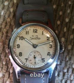 Zentra K. M militar Kriegsmarine WW2 German Vintage Watch. VERY GOOD VONDITION